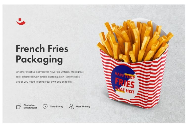 French Fries Branding Mockup PSD