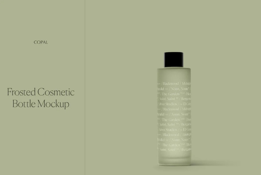 Frosted Cosmetics Bottle Mockup