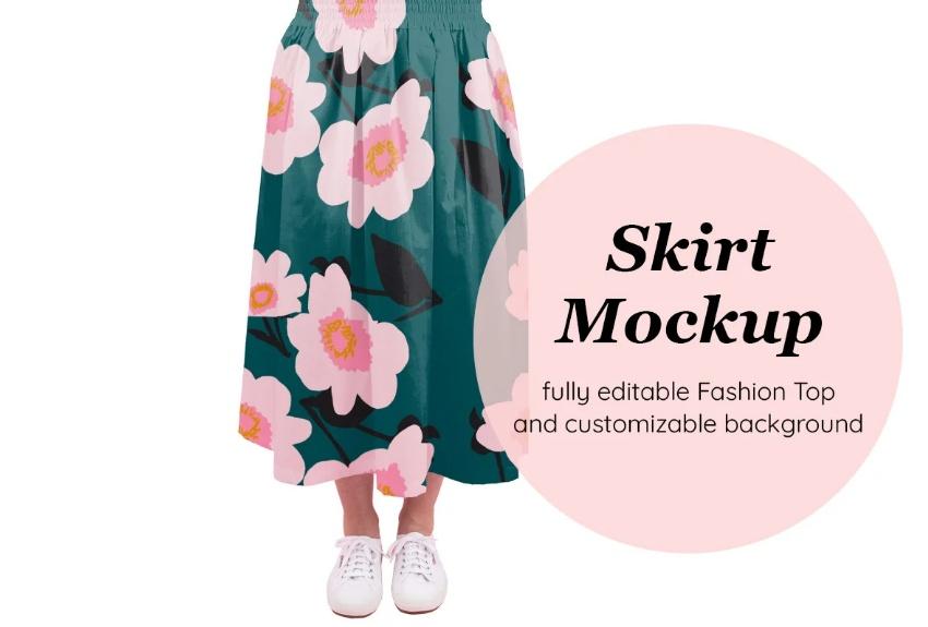 Fully Editable Fashion Skirt Mockups