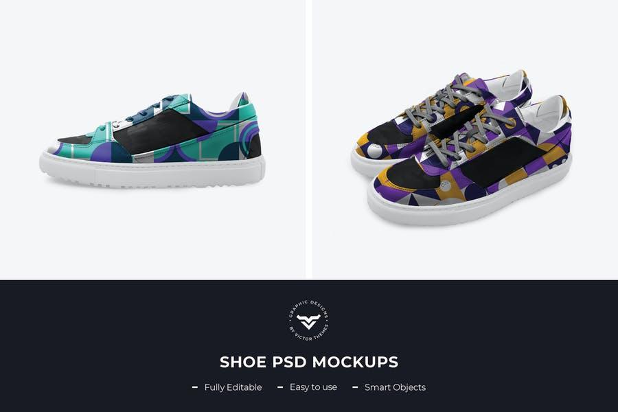 Fully Editable Shoe Mockup