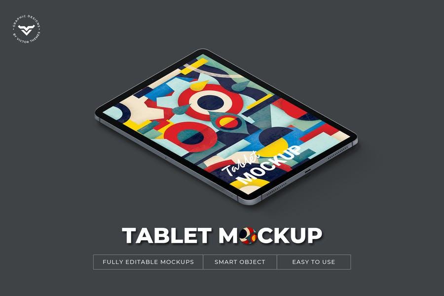 Fully Editable Tablet Mockups
