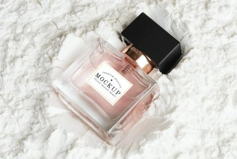 Glass Perfume Branding Mockup