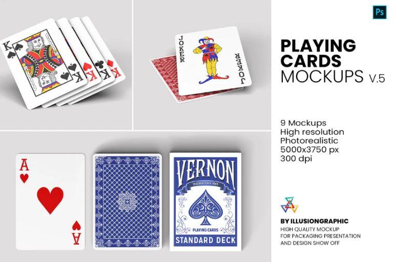 High Quality Playing Card Mockups