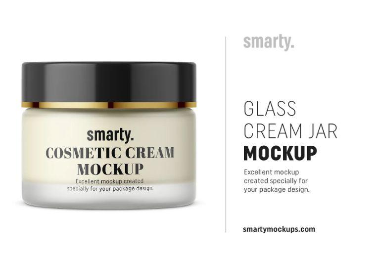 High Resolution Cream Jar Mockups