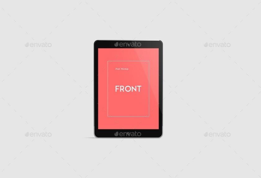 High Resolution iPad App Mockup