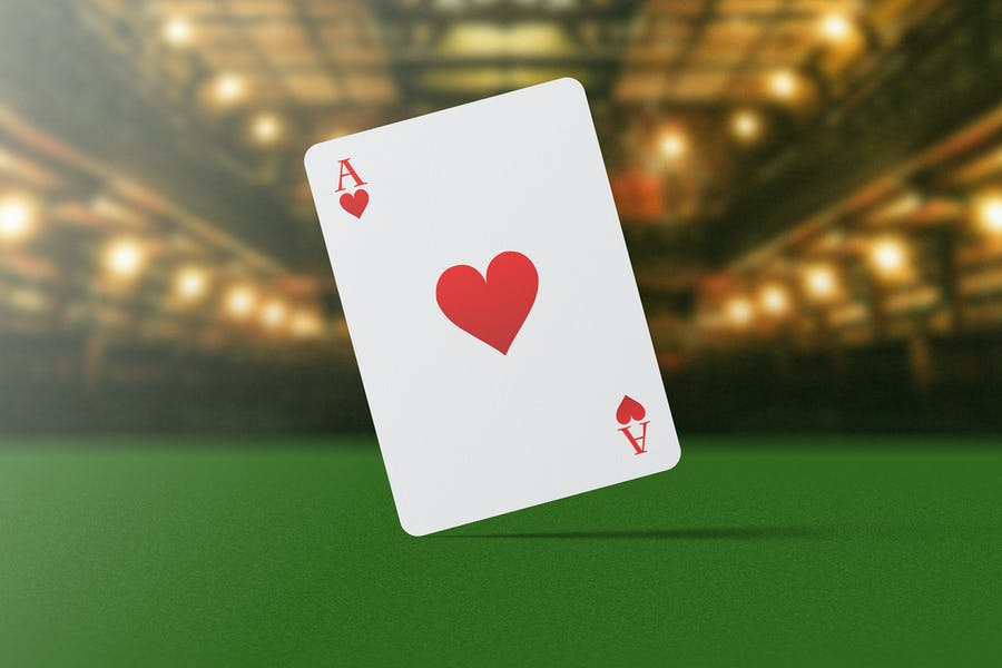 In Air Playing Card Mockup
