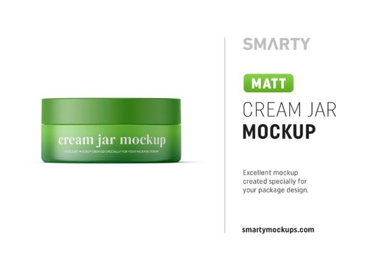 Matt Cream Jar Mockup