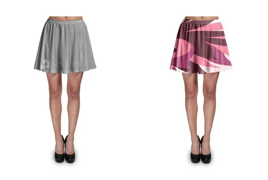 Mini Skirt Design Mockup