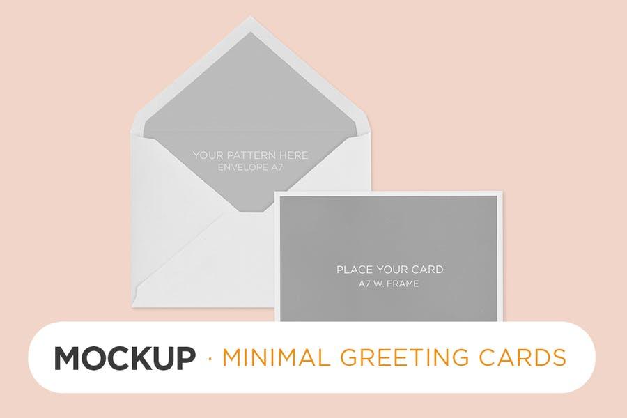 Minimal Invitation and Greeting Card Mockup