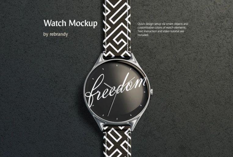 Minimal Watch Band Mockups Set