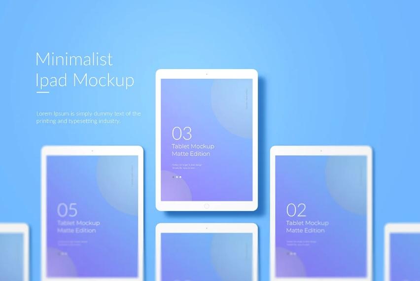 Minimal iPad App Mockup