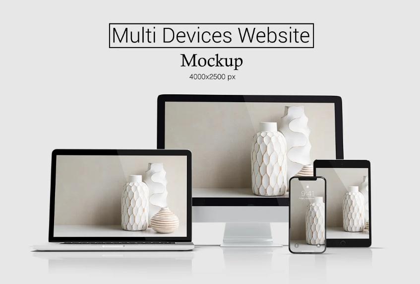 Multi Device Website Desig Mockup