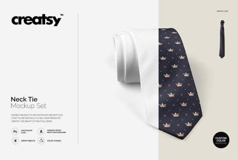Neck Tie Design Mockup Set