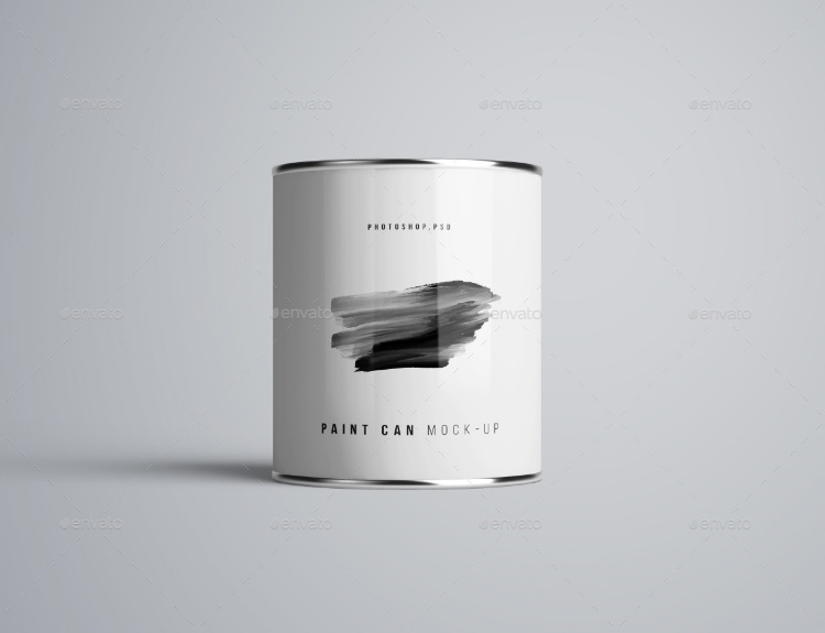 Paint Can Packaging Mockup PSD