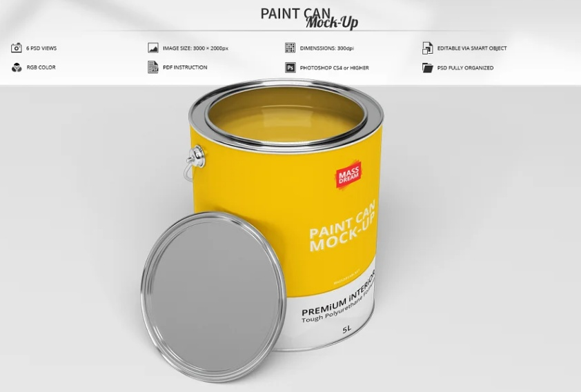 Paint Container Mockups pSD