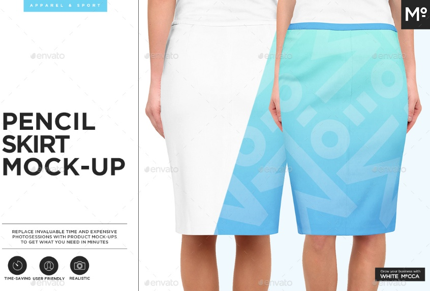 Pencil Skirt Mockup PSD