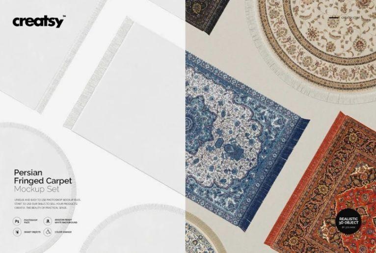 Persian Carpet Mockup PSD
