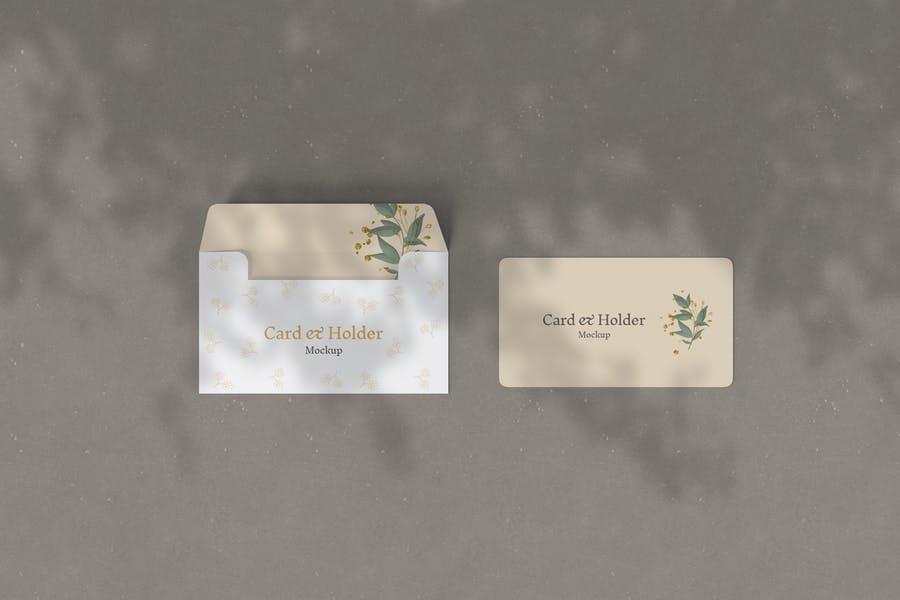 Photorealistic Card Holder Mockup