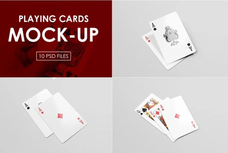 Playing Cards Deck Mockup PSD