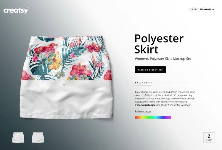 Polyester Skirt Mockup PSD