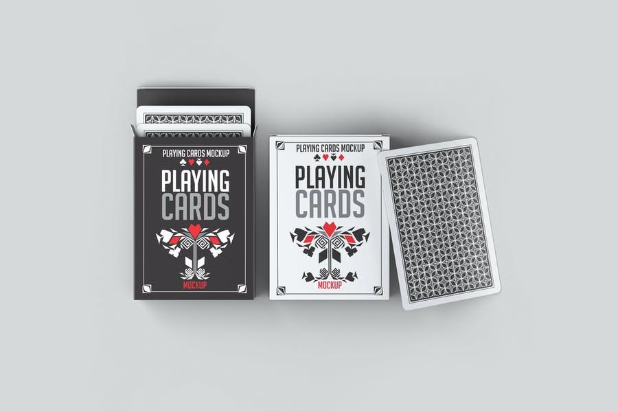 Professional Playing Card Box Mockup