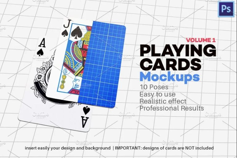 Professional Playing Card Mockups