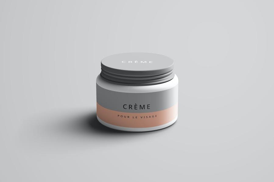 Realistic Cream Jar Mockup PSD