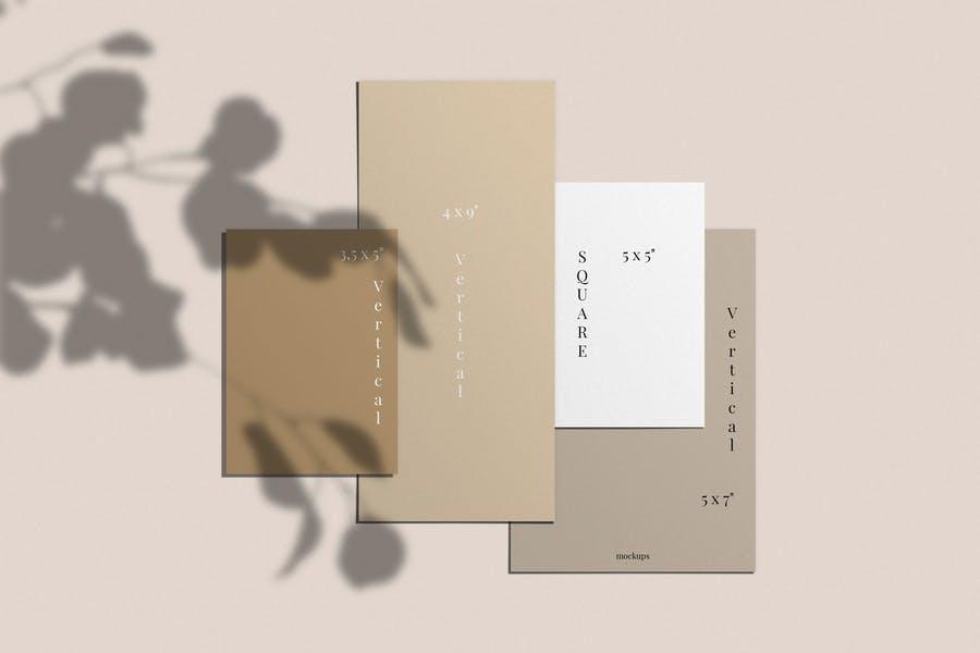 Realistic Invitation Cards Mockup