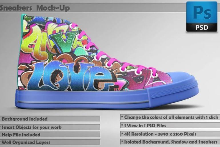 Realistic Shoe Mockup PSD