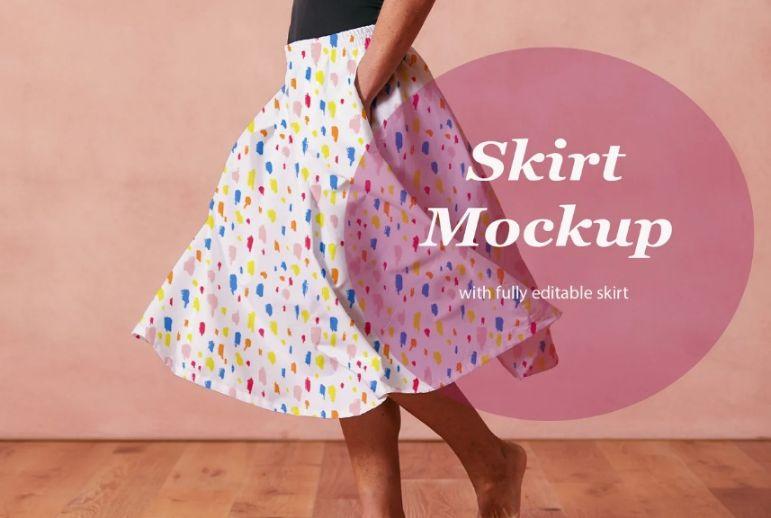 Realistic Skirt Design Mockup