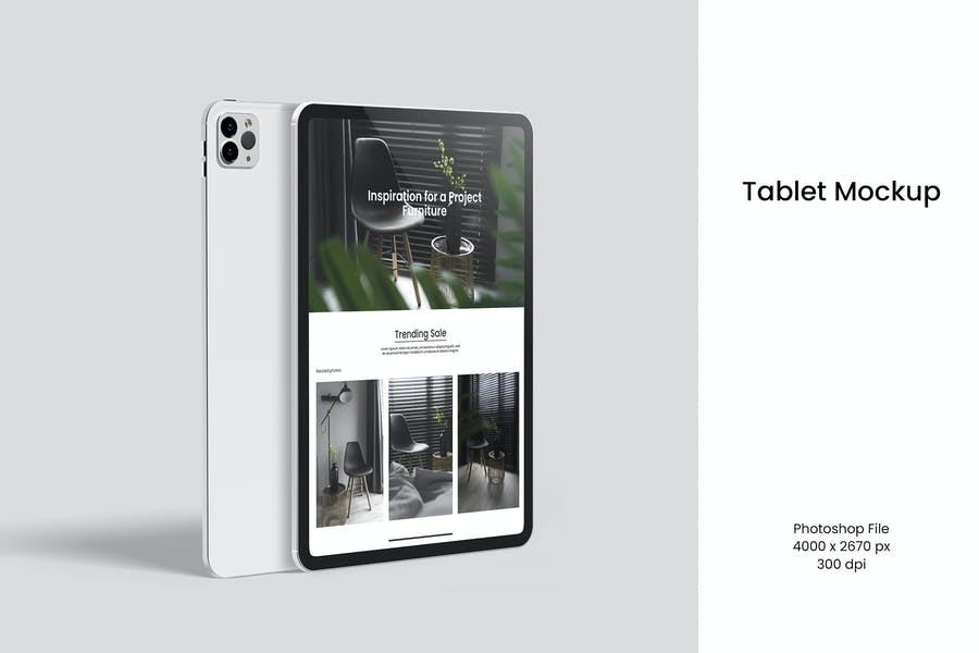 Realistic iPad Mockup PSD