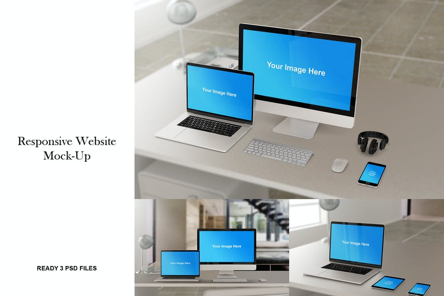 Responsive Website PSD Mockup