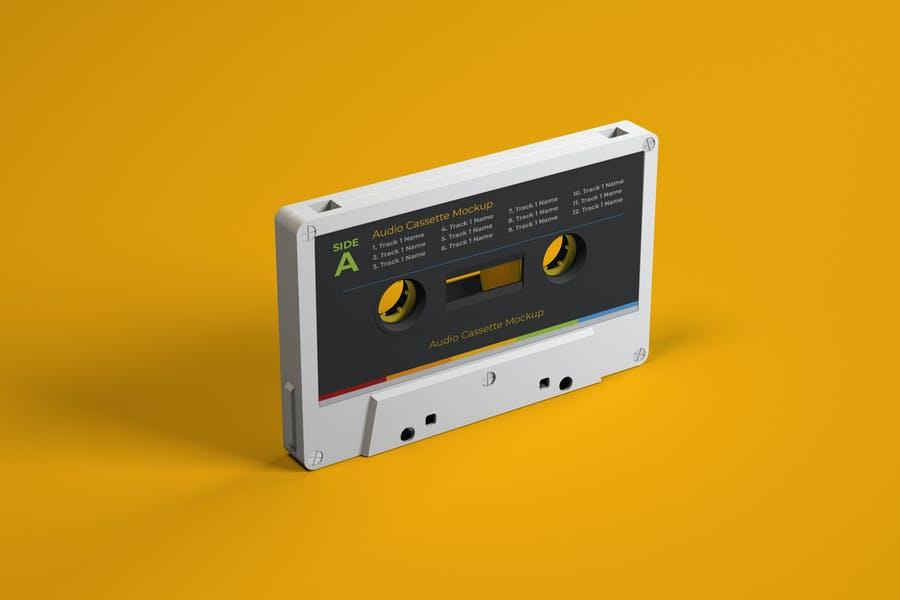 Retro Cassette Design Mockup
