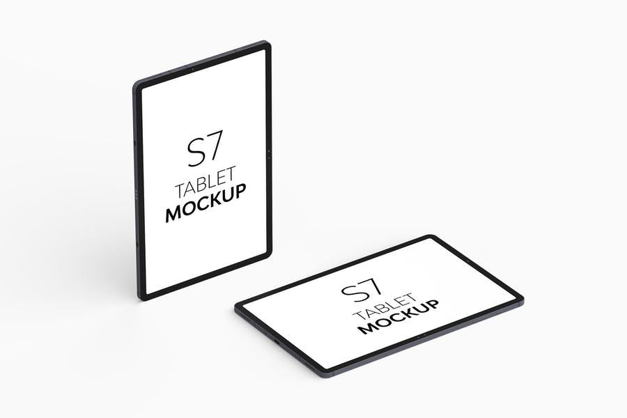 S7 Tablet Mockups PSD