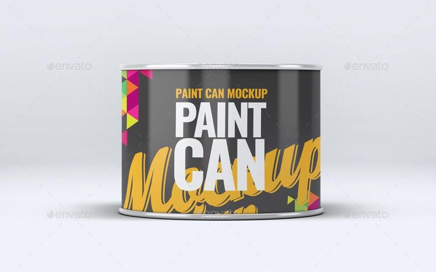 Small Paint Bucket Mockup PSD