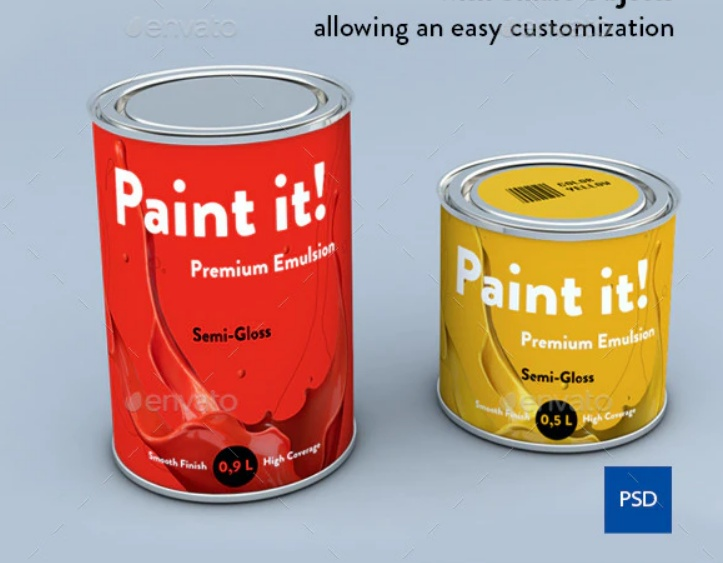 Small Paint Can Mockup