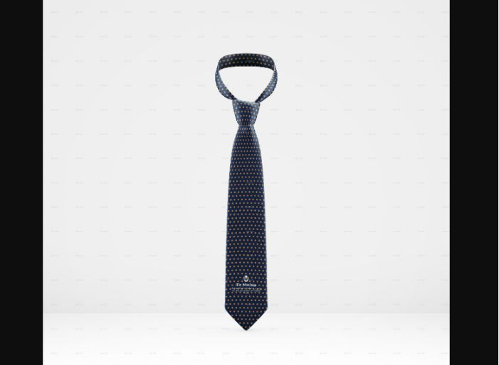 Tie Fabric Mockup PSD