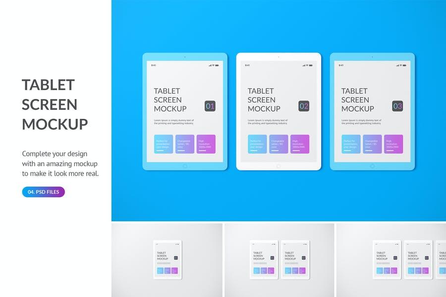 Unicolour Tablet PSD Mockup