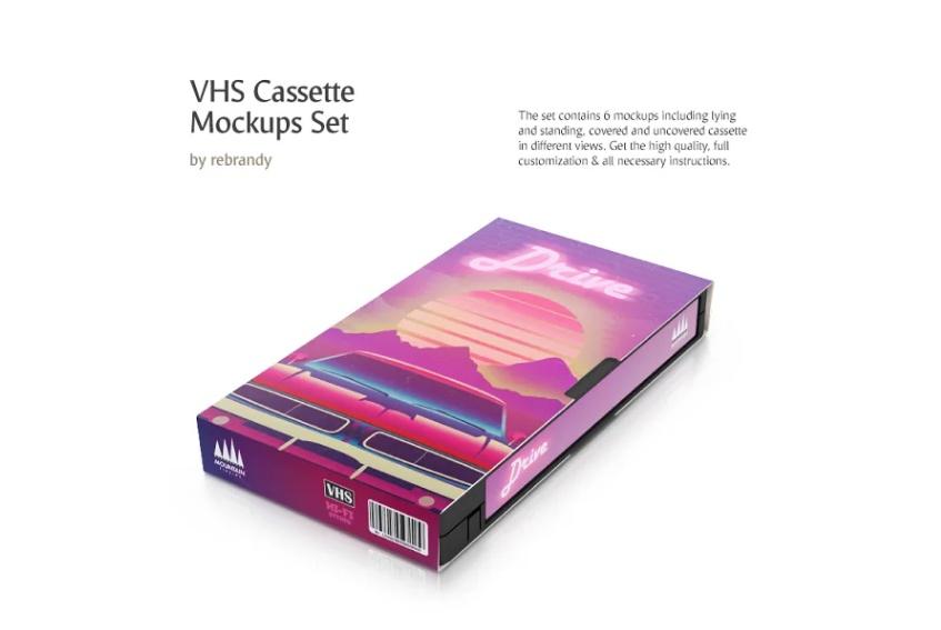 VHS Cassette Mockup Set