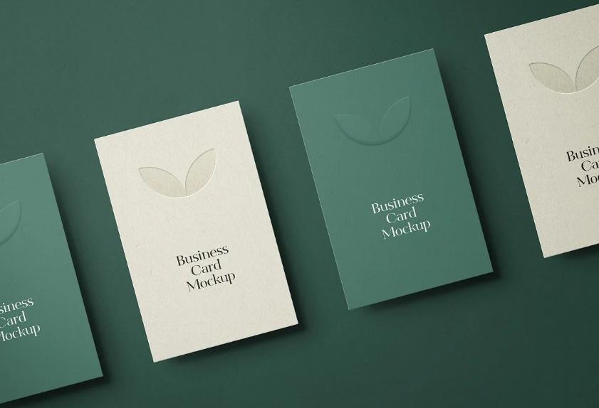 Vertical Invitation card Mockup