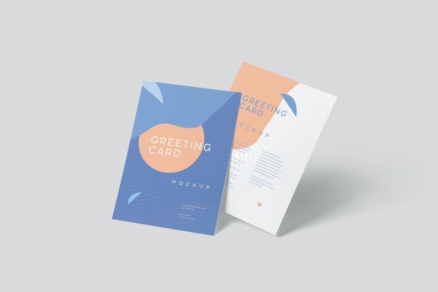Vertical Invite Card Mockup