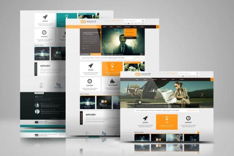 Website Design Presentation Mockup