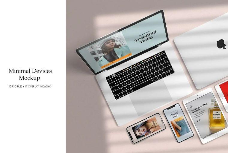 Website on Devices Mockup PSD