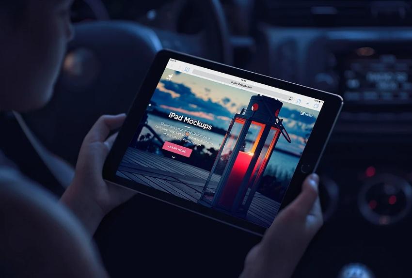 iPad Air Branding Mockups