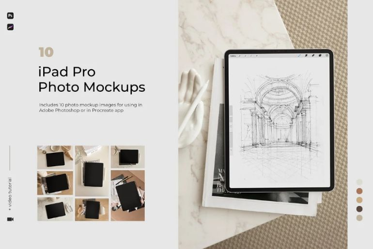 iPad Pro Photo Mockups