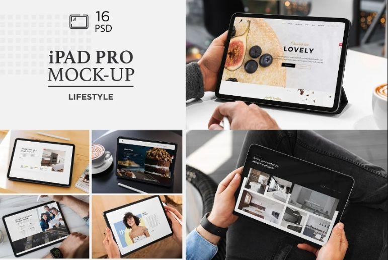 iPad Pro Responsive Mockup PSD