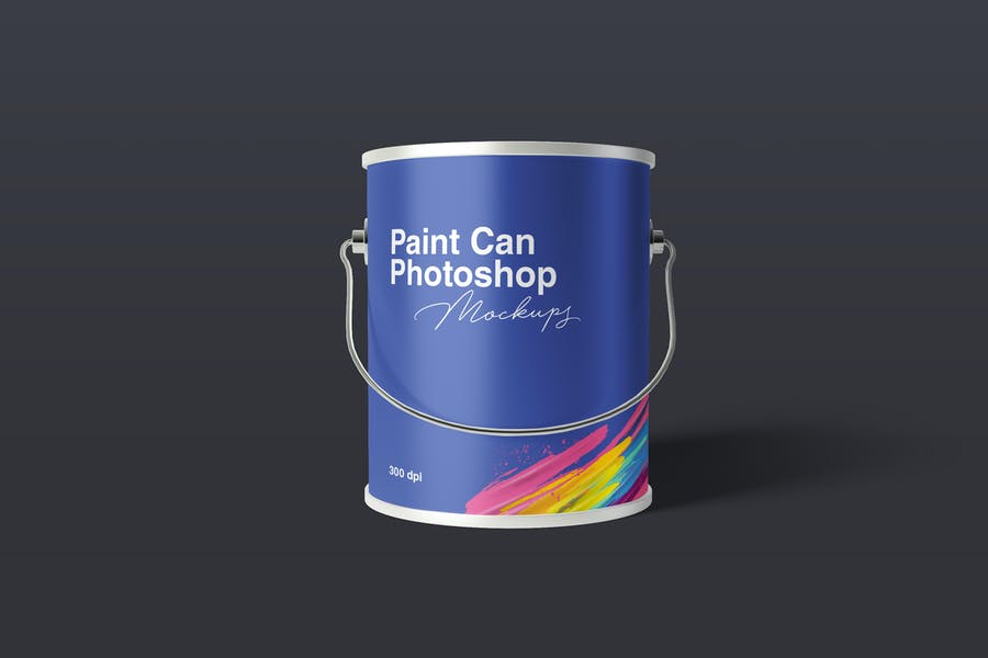 isolated Paint Can Mockup PSD