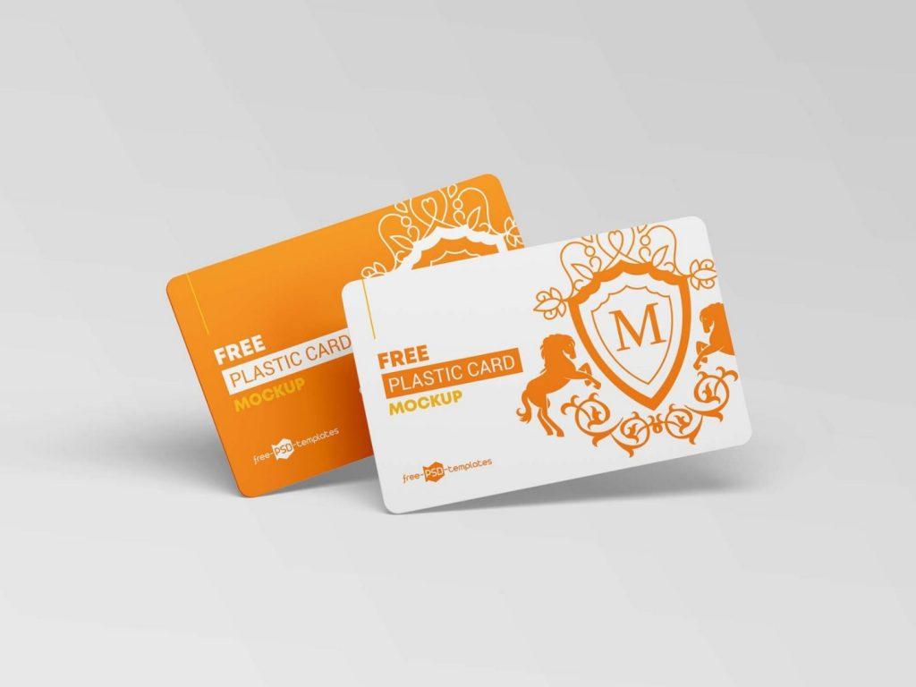 Free Plastic Key Card Mockup