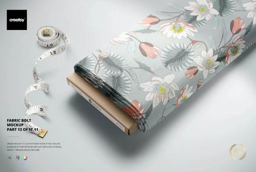 Editable Fabric Bolt Mockup
