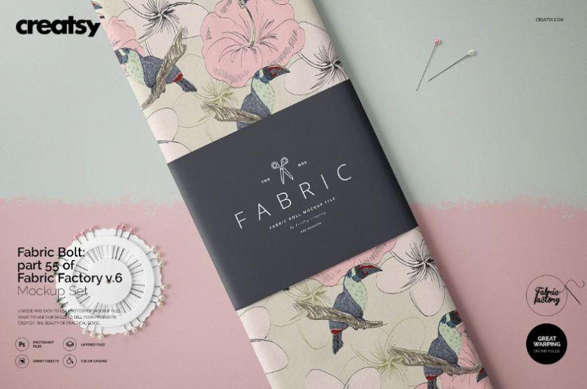 Editable Fabric Design Mockup